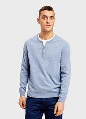 Кофта, рубашка, футболка мужская O'stin Джемпер с горловиной «хенли» MK4U12-61