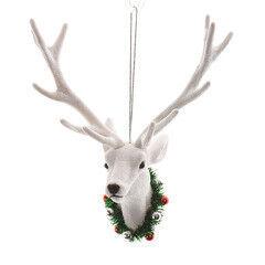 Елка и украшение mb déco Елочная игрушка «Голова оленя» на подвесе