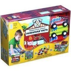 Игрушка и игра Махаон Развивающая игра «Первая книга знаний. Пожарная часть»
