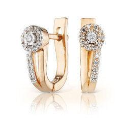 Ювелирный салон Jeweller Karat Серьги золотые с бриллиантами арт. 3223067/9