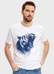 Кофта, рубашка, футболка мужская O'stin Футболка с принтом «тигр» MT1S85-00