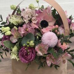 Магазин цветов Прекрасная садовница Цветочная композиция с розой Мисти бабблс