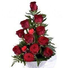 Магазин цветов Долина цветов Букет «11 красных роз»