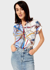 Кофта, блузка, футболка женская O'stin Блузка с цветовыми блоками LS1V25-68