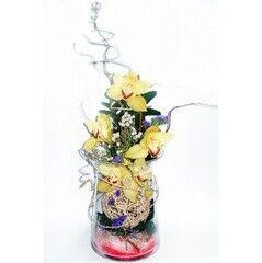 Магазин цветов Планета цветов Цветочная композиция в стекле №2