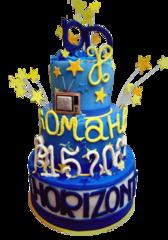 Торт Tortiki.by Торт мастичный «Праздничный!» №1 (1 кг) арт. С-2-7-16