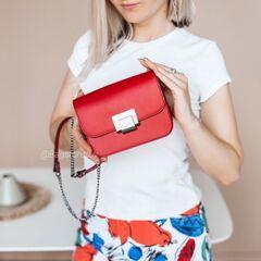 Магазин сумок Vezze Кожаная женская сумка C00487