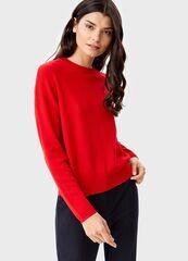 Кофта, блузка, футболка женская O'stin Укороченный джемпер LK6T54-14