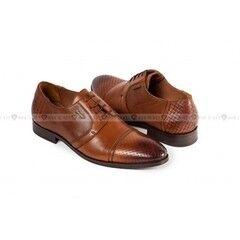 Обувь мужская Keyman Туфли мужские дерби рыжие с плетеной выделкой