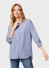 Кофта, блузка, футболка женская O'stin Рубашка с отделкой из тесьмы LS4U33-68