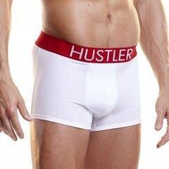 Интим-магазин Extaz Белые мужские боксеры Hustler на широкой резинке из микрофибры
