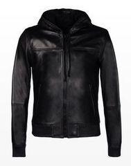 Верхняя одежда мужская Trussardi Кожаная куртка-бомбер мужская 52S02 _510070