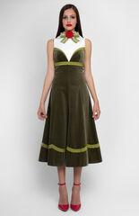 Платье женское Pintel™ Комбинированное платье из бархата и хлопка Epolia