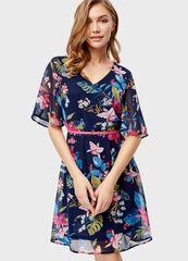 Платье женское O'stin Шифоновое платье в растительный принт LR1S81-68
