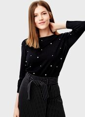 Кофта, блузка, футболка женская O'stin Джемпер с жемчугом LK6T32-99