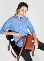 Кофта, блузка, футболка женская O'stin Объёмная хлопковая женская рубашка LS4W32-68