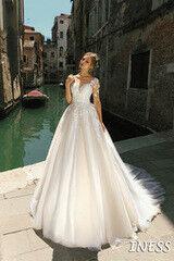Свадебное платье напрокат А-силуэт Bonjour Galerie Платье свадебное Iness из коллекции La Douceur