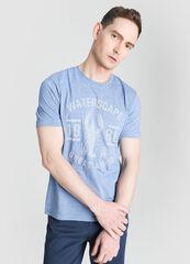 Кофта, рубашка, футболка мужская O'stin Футболка с морским принтом MT4W72-62