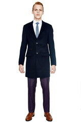 Верхняя одежда мужская HISTORIA Пальто мужское темно-синее H01