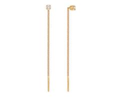 Ювелирный салон Sokolov Серьги-цепочки из золота с фианитами 020609