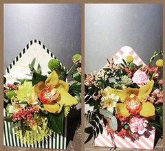 Магазин цветов Фурор Конверт поздравительный, классический с орхидеей