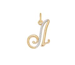 Ювелирный салон Sokolov Подвеска-буква «Л» из золота 034534