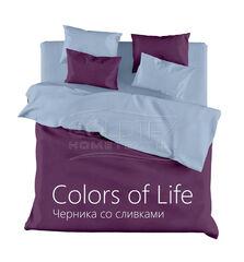 Подарок Голдтекс Полуторное однотонное белье «Color of Life» Черника со сливками