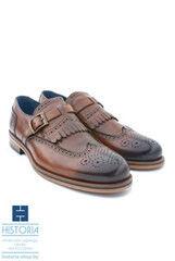 Обувь мужская HISTORIA Мужские туфли монки с одной застежкой, фактурная кожа