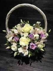 Магазин цветов Cvetok.by Цветочная корзина «Счастливый день»