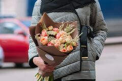 Магазин цветов Цветы на Киселева Букет «Персиковый»