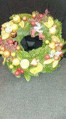Магазин цветов Florita (Флорита) Рождественский венок на натуральной основе с ноблисом арт. 201221