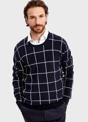 Кофта, рубашка, футболка мужская O'stin Джемпер в клетку MK1T54-69