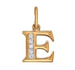 Ювелирный салон Sokolov Подвеска-буква «Е» с фианитами 031095