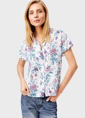 Кофта, блузка, футболка женская O'stin Блузка в цветочный принт LS1T33-00