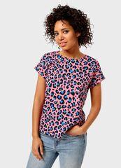 Кофта, блузка, футболка женская O'stin Футболка с принтом «леопард» женская LT4UB3-X3