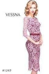 Вечернее платье Vessna Топ с пуговицами и Юбка миди арт.1243 из коллекции VESSNA NEW