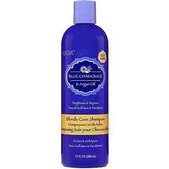 Уход за волосами Hask Шампунь с экстрактом голубой ромашки и аргановым маслом для светлых волос 355 мл