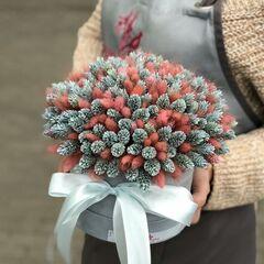 Магазин цветов Прекрасная садовница Цветочная композиция с лагуросом и фалярисом
