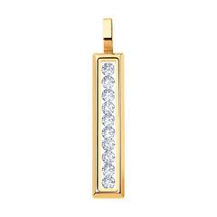 Ювелирный салон Sokolov Подвеска из золота со Swarovski Zirconia и минеральным стеклом 035356