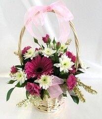 Магазин цветов Cvetok.by Цветочная корзина «Кокетка»
