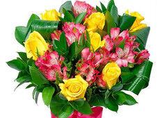 Магазин цветов Долина цветов Букет желтых роз
