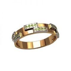 Ювелирный салон jstudio Золотое кольцо с различными фианитами 10337
