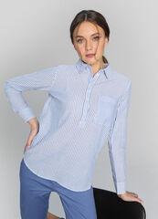 Кофта, блузка, футболка женская O'stin Блузка-туника из структурного хлопка LS4W81-65