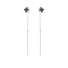 Ювелирный салон Fidelis Серьги-пусеты из серебра с эмалью G6N0215