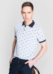 Кофта, рубашка, футболка мужская O'stin Рубашка-поло с животным микропринтом MT4W76-60