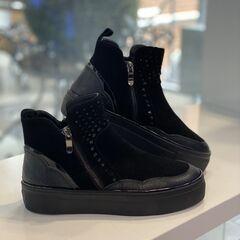 Обувь женская La Repo Ботинки женские замша, кожа