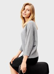 Кофта, блузка, футболка женская O'stin Джемпер с горловиной «лодoчка» LK6T58-92