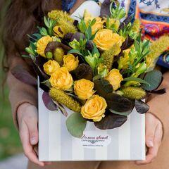 """Магазин цветов Долина цветов Букет  """"Конверт осеннего счастья"""""""