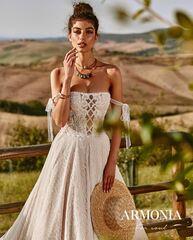 Свадебное платье напрокат А-силуэт Armonia Свадебное платье  Beauty
