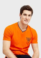 Кофта, рубашка, футболка мужская O'stin Футболка с геометрическим принтом MT1S93-25